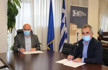 Δρόμος-Μαρώνεια-Πετρωτά-Υπογραφή-Σύμβασης