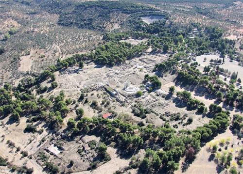 Αερολήψη Αρχαιολογικός χώρος αρχαίας Επιδαύρου.