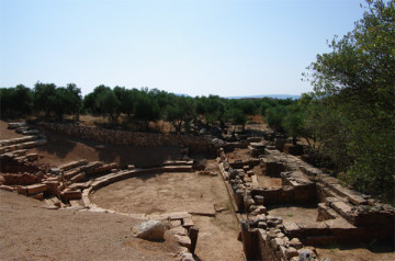 The theatre of Aptera in 2016.