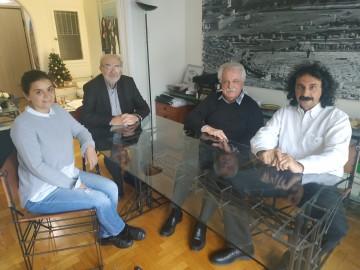 Oι κ.κ. Γ. Λασκαράκης, Στ. Μπένος, Ν. Δρακωνάκης και Άρτ. Τσολάκη