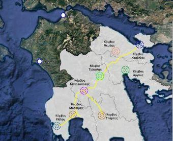 Στο χάρτη αποτυπώνεται η δυνατότητα σύνδεσης της «Πολιτιστικής Διαδρομής του ΜΟΡΕΑ» με το πρόγραμμα «Διαδρομή Ολυμπίας Οδού»