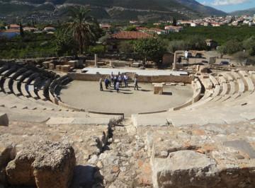 Το μικρό θέατρο  της αρχαίας Επιδαύρου.