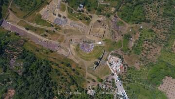 Αεροφωτογραφία του Αρχαιολογικού Χώρου (Φ. Κουτρουμπής, 2018)