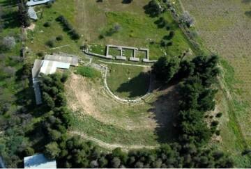 Αεροφωτογραφία του Αρχαίου Θεάτρου Δημητριάδος