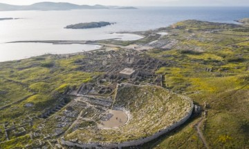 The sacred island of Delos, Greece. Photograph: Oak Taylor Smith/Neon, Ephorate of Antiquities of Cyclades and the artist