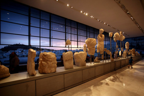 International Museum Day in Acropolis Museum in Athens, Greece on May 19, 2018. Greece celebrated the International Museum Day by providing free admission to visitors and hosting special events at museums nationwide. (Photo by Giorgos Georgiou/NurPhoto via Getty Images)