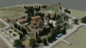 Εικ. 2: τρισδιάστατη απεικόνιση του αρχαιολογικού πάρκου του Ορχομενού Βοιωτίας.