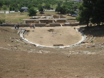 The ancient theatre of Demetrias (Demetriados) in 2016.