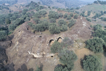 Courtesy of Sedat Akkurnaz/Aydın Provincial Directorate of Culture and Tourism - Amphitheater remains after clearing, Mastaura, Turkey,  Source; www.archaeology.org