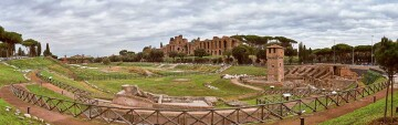 The Circus Maximus, the former chariot-racing stadium and mass entertainment venue in Rome. Source; https://romesite.com