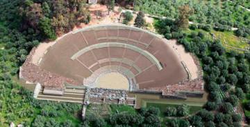 Αρχαίο θέατρο Σπάρτης (3D αναπαράσταση μετά την αποκατάσταση)