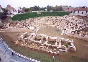 Το Α' αρχαίο θέατρο της Λάρισας.