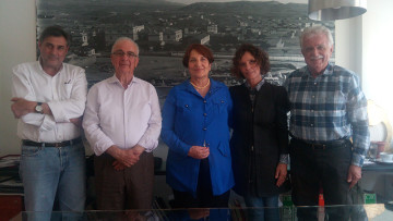 From left to right: Platonas Mavromoustakos, Vassilis Lambrindoudakis, Danai Antonakou, Monica Centanni, Stavros Benos