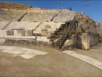 Study for the  restoration of the Ancient Theatre of Philippi.