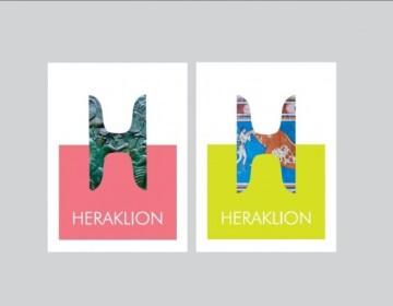 """Το πρώτο βραβείο έλαβε η «Palladian Communication Specialist A.E.».. Θεμέλιο της νέας εικόνας είναι το Σήμα, εμπνευσμένο από τα εμβληματικά, πασίγνωστα """"Κέρατα του Ταύρου της Κνωσού"""" που σαν να ενώνονται με την σκιά τους, σχηματίζουν δημιουργικά το γράμμα """"Η"""", κοινό πρωτόγραμμα του brand name του Ηρακλείου στα ελληνικά και στα αγγλικά (Heraklion / Ηράκλειο)."""