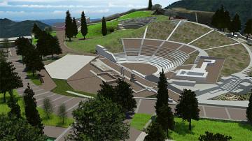 ΕΙΚ. 3: 3D Απεικονίσεις του αρχαιολογικού πάρκου Ορχομενού Βοιωτίας.