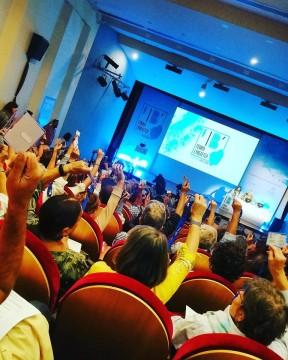 Στιγμιότυπο από την ψηφοφορία  που πραγματοποιήθηκε στη διάρκεια της 12ης Γενικής Συνέλευσης