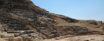 View of the theatre on the Acropolis of Lindos