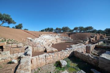 Το αρχαίο θέατρο Απτέρας (2020) - πηγή: αρχείο ΕΦΑ Χανίων/ΥΠΠΟ