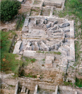 General view of the Roman odeion.