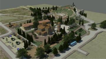 Τρισδιάστατη απεικόνιση του αρχαιολογικού πάρκου του Ορχομενού Βοιωτίας.