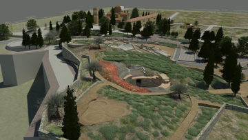 Τρισδιάστατη αναπαράσταση του αρχαιολογικού πάρκου στον Ορχομενό Βοιωτίας.