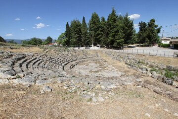 To Αρχαίο Θέατρο Ορχομενού Βοιωτίας.