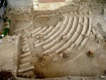 Άποψη του ανασκαμμένου θεάτρου των Αχαρνών από Νότια
