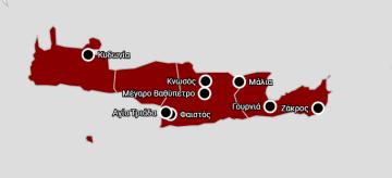 O χάρτης με τους πόλους της διαδρομής